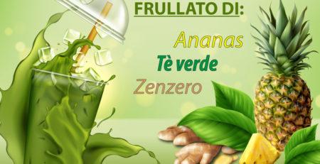 Frullato-ananas-tèverde-zenzero